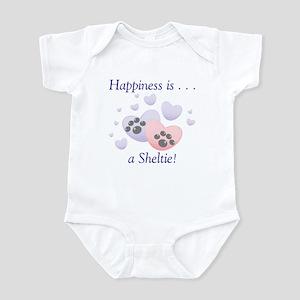Happiness is...a Sheltie Infant Bodysuit