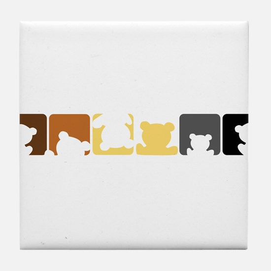 Bear Pride Tile Coaster