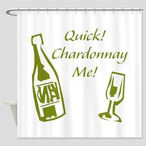 Chardonnay Me Shower Curtain