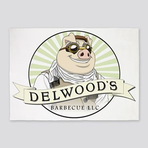 Delwoods Barbecue LLC Logo 5'x7'Area Rug