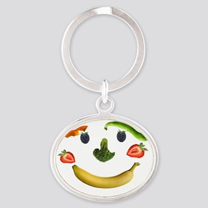 Healthy Diet Oval Keychain