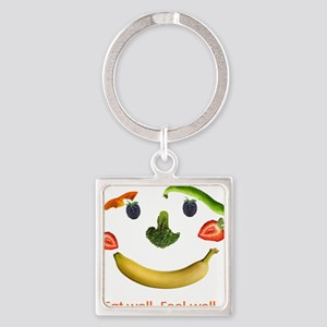 Healthy Diet Square Keychain