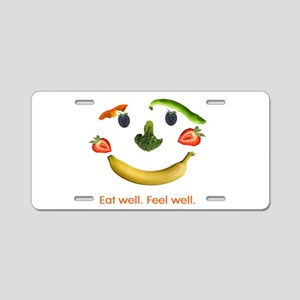 Healthy Diet Aluminum License Plate