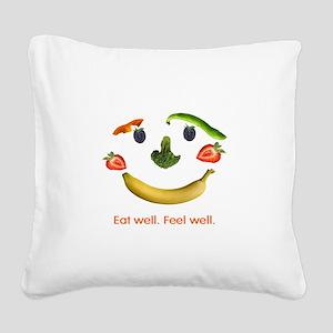 Healthy Diet Square Canvas Pillow
