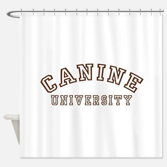Canine University Shower Curtain