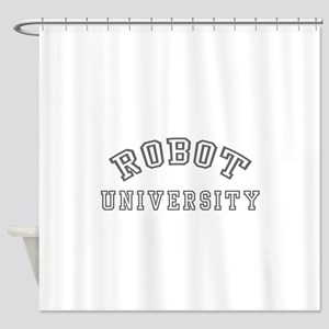 Robot University Shower Curtain