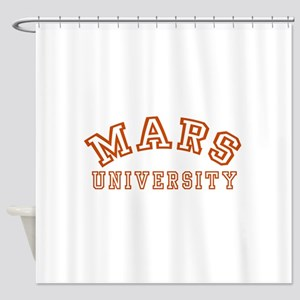 Mars University Shower Curtain