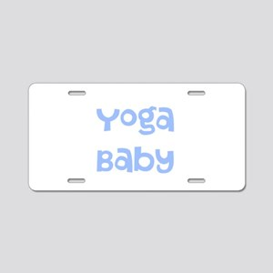 Yoga Baby Blue Aluminum License Plate