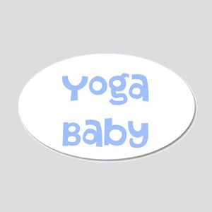 Yoga Baby Blue Wall Decal