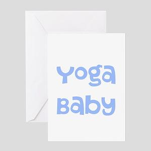 Yoga Baby Blue Greeting Card