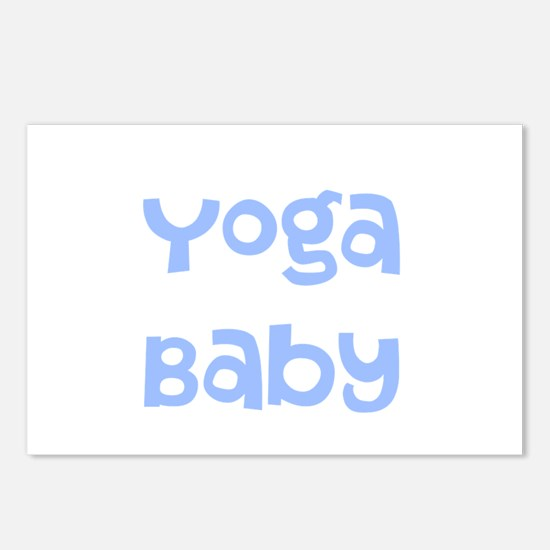 Yoga Baby Blue Postcards (Package of 8)