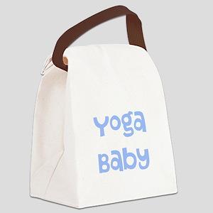 Yoga Baby Blue Canvas Lunch Bag