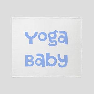 Yoga Baby Blue Throw Blanket