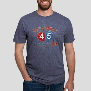 officially 45 forever 18 Mens Tri-blend T-Shirt