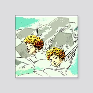 Angels and Cross Sticker