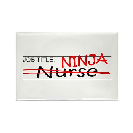 Job Ninja Nurse Rectangle Magnet (100 pack)