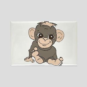 Cute Monkey Rectangle Magnet