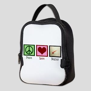 Peace Love Dexter Neoprene Lunch Bag