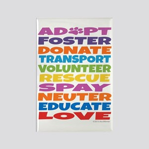 Adopt-Foster-Rescue Rectangle Magnet