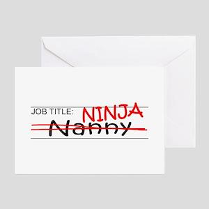 Job Ninja Nanny Greeting Card