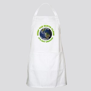Keep the Earth Clean BBQ Apron