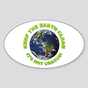 Keep the Earth Clean Oval Sticker