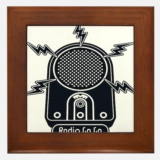 Radio Ga Ga Framed Tile