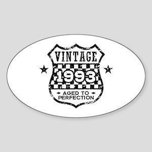 Vintage 1993 Sticker (Oval)