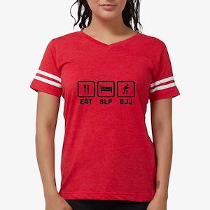 Eat Sleep BJJ Womens Football Shirt