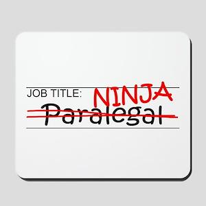 Job Ninja Paralegal Mousepad