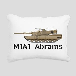 M1A1 Abrams MBT Rectangular Canvas Pillow
