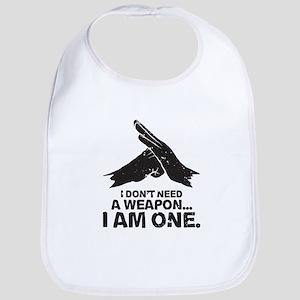 Don't Need Weapon Baby Bib