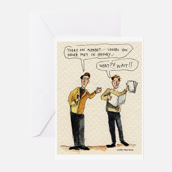 "Mikel Rouse ""Alphabet"" Greeting Cards (Package of"
