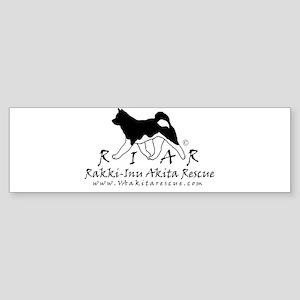 Rakki-Inu logo 3 thicker nb Bumper Sticker