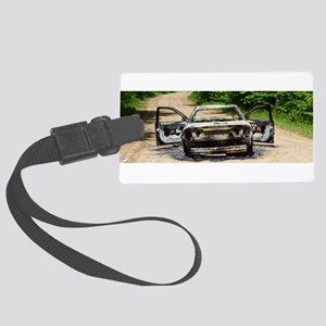 Burnt Car Luggage Tag