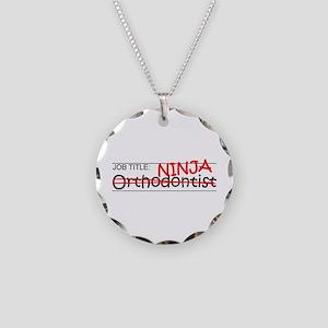 Job Ninja Orthodontist Necklace Circle Charm