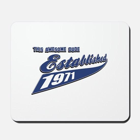Established 1971 Mousepad