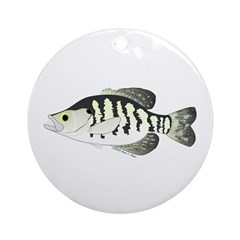 White Crappie sunfish fish Ornament (Round)