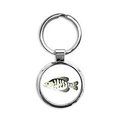 White Crappie sunfish fish Keychains