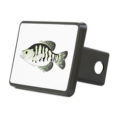 White Crappie sunfish fish Hitch Cover