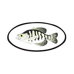 White Crappie sunfish fish Patches