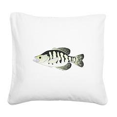 White Crappie sunfish fish Square Canvas Pillow