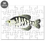 White Crappie sunfish fish Puzzle