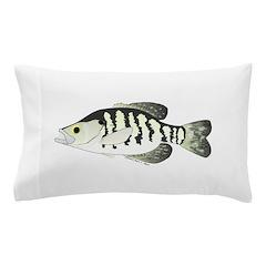 White Crappie sunfish fish Pillow Case