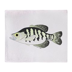 White Crappie sunfish fish Throw Blanket