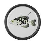 White Crappie sunfish fish Large Wall Clock