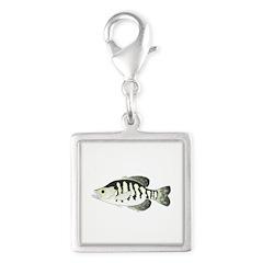 White Crappie sunfish fish Charms