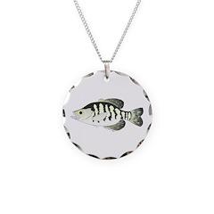 White Crappie sunfish fish Necklace