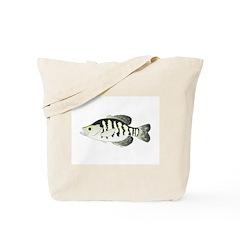 White Crappie sunfish fish Tote Bag