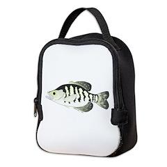 White Crappie sunfish fish Neoprene Lunch Bag